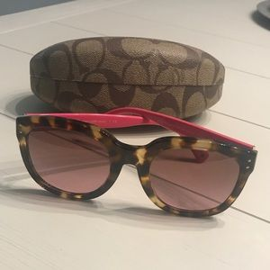 Coach Tortious + Pink Sunglasses
